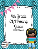 4th grade ELA pacing guide (Common Core aligned-reading and writing only)