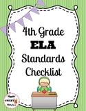 4th grade ELA standards checklist (Common Core)