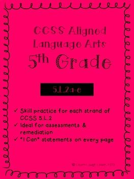 CCSS 5.L.2 Assessment Bundle