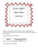 CCSS 5.NBT.1 Place Value card sort