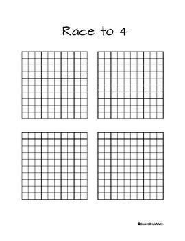CCSS 5.NBT.4 Race to Four Rounding Decimals