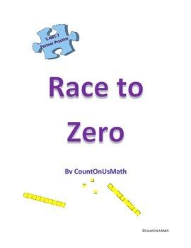 CCSS 5.NBT.7 Race to Zero Subtracting Decimals