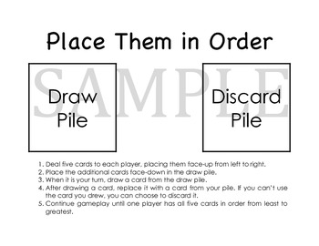 CCSS: 5.NBT.A.3 – Place Them In Order Game (Starter Kit)