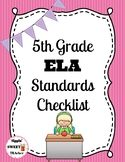 5th Grade ELA Standards Checklist (Common Core)