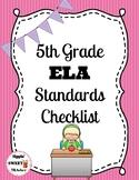 5th Grade ELA Standards Checklist (Common Core)