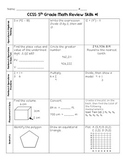 SBAC/CAASPP 5th Grade Common Core Math Review
