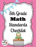 5th Grade Math Standards Checklist (Common Core)