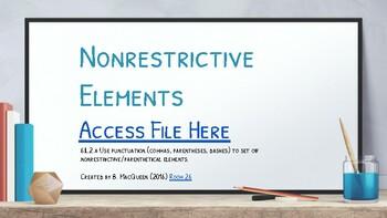 CCSS 6.L.2a Nonrestrictive Elements (Google Drive)