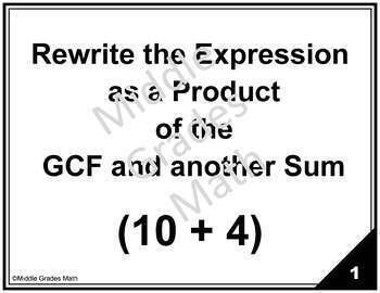 CCSS 6.NB.4 Task Card Bundle  - GCF/LCM/Rewrite Expressions  (PRINT VERSION)