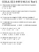 CCSS.6.NS.4, RP.1, 2, 3, EE.1TEST 3 CONVERSIONS, POSITIVE/NEGATIVE, EQUATIONS