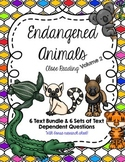 CCSS 6 Text Endangered Animals Close Reading Bundle + Questions (Volume 2)