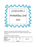 CCSS 6.EE.1 Probability Card Sort