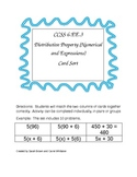 CCSS 6.EE.3 Distributive Property (Numerical and Expressions) Card Sort