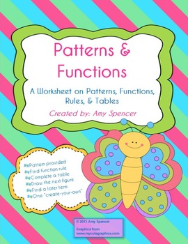 CCSS 6.EE.9  Figure Patterns and Functions Worksheet
