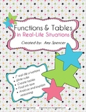 CCSS 6.EE.9  Function Tables and Rules in Real Life Situations