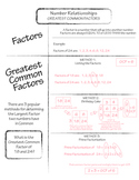 CCSS 6.NS.4 Greatest Common Factor and Relatively Prime Classroom Notes
