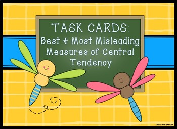CCSS 6.SP  Station Task Cards: Best and Misleading Measure