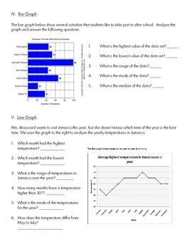 CCSS 6.SP.3, 4, 5 Creating and Analyzing Graphs Practice