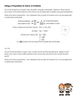 CCSS 7.RP.A.2c  Proportions Guided Notes and Practice