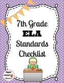 7th Grade ELA Standards Checklist (Common Core)