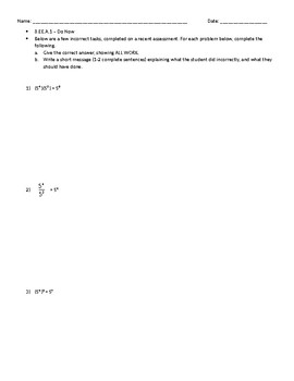CCSS 8.EE.A.1 Warm-Up