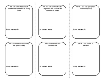 CCSS 8 Mathematical Practices Trifold