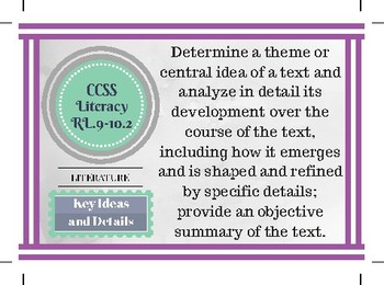CCSS 9-10 Literature and Informational Text