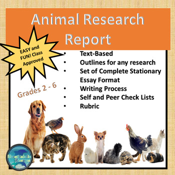 """""""ANIMALS WRITING RESEARCH PROJECT"""" TEXT-BASED WRITING ASSIGNMENT"""