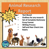 """ANIMALS WRITING RESEARCH PROJECT"" TEXT-BASED WRITING ASSIGNMENT"