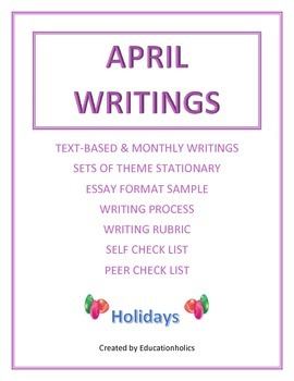 """CCSS """"APRIL"""" BUNDLE TEXT-BASED WRITING ASSIGNMENTS"""