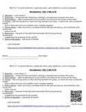 CCSS Academic Vocabulary- RL.3; Characterizaton/Plot Structure