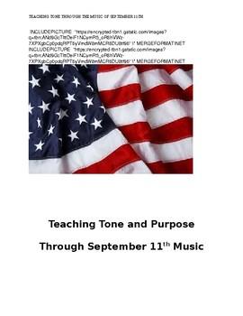 September 11th Common Core Activity: Teaching Tone/Purpose Through 9/11 Songs
