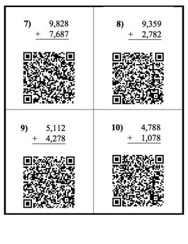Engaging Addition and Subtraction Practice with iPads, QR Codes - CCSS Aligned!