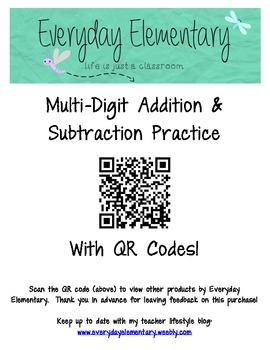 Engaging Addition and Subtraction Practice with iPads, QR