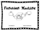 CCSS Algebra & Patterns:  Function Machines