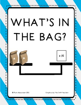 CCSS Algebra & Patterns:  What's in the Bag?