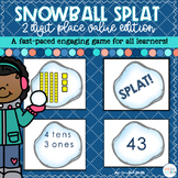 Two Digit Place Value Game Snowball SPLAT! | Digital and D