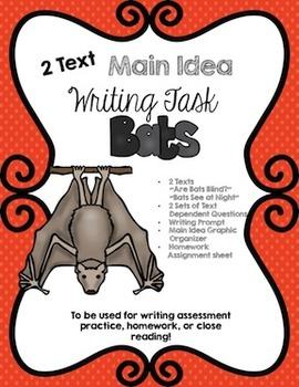 CCSS Aligned 2 Text Main Idea Writing Task