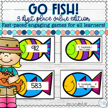 Place Value: 3 Digit Place Value Go Fish Game