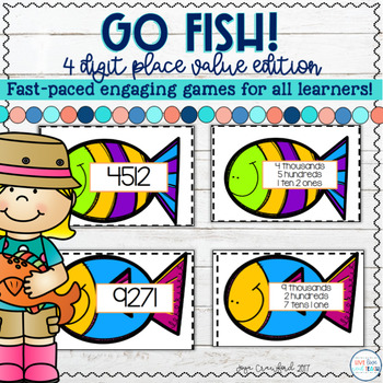 Place Value Game: 4 Digit Go Fish
