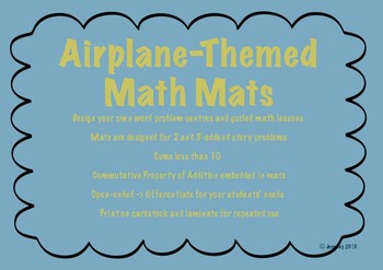 CCSS Aligned Airplane-Themed Math Mats