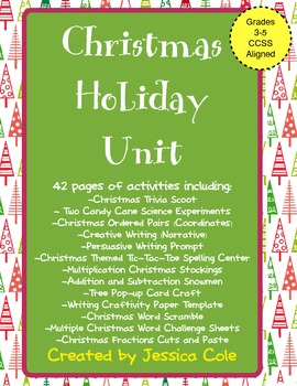 CCSS Aligned Christmas Math, Literacy and Science Unit (Gr
