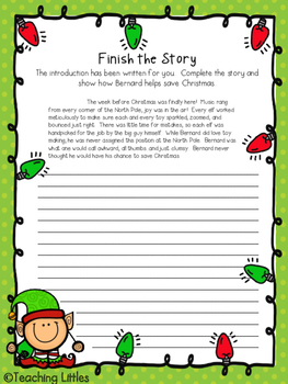 CCSS Aligned Christmas Narrative Prompts