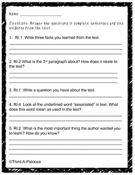 CCSS Aligned Close Reading Freebie: St. Patrick's Day
