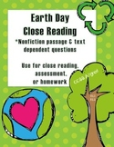 CCSS Aligned Earth Day Close Reading