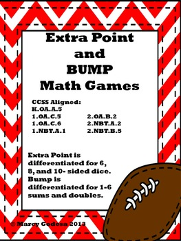 Extra Point and Bump Math Games {football theme}