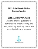 CCSS Aligned Fiction Passage With Multiple Choice Comprehension Questions