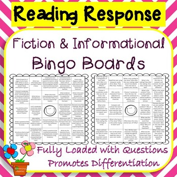 CCSS Aligned Fiction & Non-Fiction Reader's Response Choic
