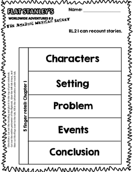 CCSS Aligned: Flat Stanley's Worldwide Adventures #5 31 Page Bundle