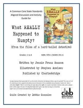 CCSS-Aligned Guide to WHAT REALLY HAPPENED TO HUMPTY?